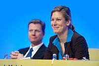 17 JAN 2009, BERLIN/GERMANY:<br /> Guido Westerwelle (L), FDP Bundesvorsitzender, und Dr. Silvana Koch-Mehrin (R), MdEP, Vorsitzende der FDP im Europaparlament, Europaparteitag der FDP, Estrel Convention Center<br /> IMAGE: 20090117-01-035<br /> KEYWORDS: party congress