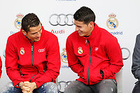 Cristiano Ronaldo and James participates and receives new Audi during the presentation of Real Madrid's new cars made by Audi in Madrid. December 01, 2014. (ALTERPHOTOS/Caro Marin)