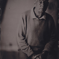 Gerry Hawkey, tintype portrait made with wetplate collodion process.