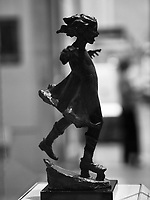 Girl Skating (1906 Bronze) by Abastenia St. Leger Eberle (1878-1942)<br /> American Wing of the Metropolitan Museum of Art.