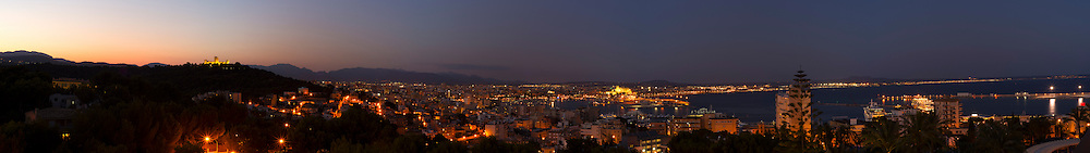 Large Panorama of Palma, Majorca, Spain