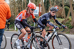 Jessie Daams and Amy Pieters are joined at the hip - Dwars door Vlaanderen 2016, a 103km road race from Tielt to Waregem, on March 23rd, 2016 in Flanders, Netherlands.