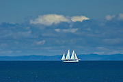 Sailboat on the Gulf of St. Lawrence<br />Saint-Simon<br />Quebec<br />Canada