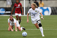 04 December 2011: Duke's Kaitlyn Kerr (5). The Stanford University Cardinal defeated the Duke University Blue Devils 1-0 at KSU Soccer Stadium in Kennesaw, Georgia in the NCAA Division I Women's Soccer College Cup Final.