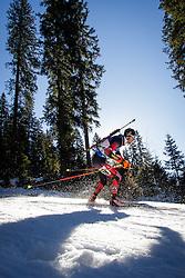 Dominik Landertinger (AUT) during Men 15 km Mass Start at day 4 of IBU Biathlon World Cup 2015/16 Pokljuka, on December 20, 2015 in Rudno polje, Pokljuka, Slovenia. Photo by Ziga Zupan / Sportida