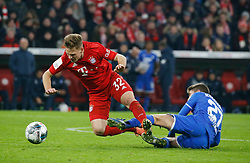 05.02.2020, Allianz Arena, Muenchen, GER, DFB Pokal, FC Bayern Muenchen vs TSG 1899 Hoffenheim, Achtelfinale, im Bild Foul: Andrej Kramaric legt Joshua Kimmich // during the German Pokal the round of last sixteen match between FC Bayern Muenchen and TSG 1899 Hoffenheim at the Allianz Arena in Muenchen, Germany on 2020/02/05. EXPA Pictures © 2020, PhotoCredit: EXPA/ SM<br /> <br /> *****ATTENTION - OUT of GER*****