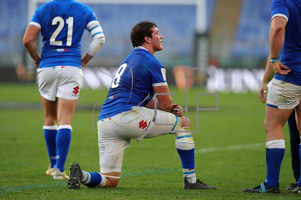 Roma 13/03/2021, Stadio Olimpico<br /> Guinness Six Nations 2021<br /> Italia vs Galles<br /> <br /> Michele Lamaro