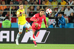 July 3, 2018 - Moscow, Russia - midfielder Dele Alli of England National team and midfielder Juan Quintero of Colombia National team  during the round of 16 match between Colombia  and England at the FIFA World Cup 2018 at Spartak Stadium  in Moscow, Russia, Tuesday, July 3, 2018. (Credit Image: © Anatolij Medved/NurPhoto via ZUMA Press)