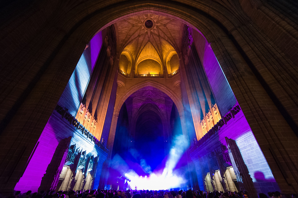 The Liverpool Anglican Cathedral at Sound City, Liverpool, UK, on Thursday 2nd May, 2013. A 3 day music festival in Liverpool.