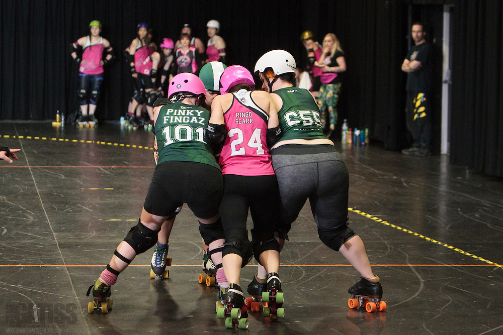 MRD Checkerbroads vs Dundee Roller Girls at the 2016 British Championships Tier 3 - UKRDA National North, Manchester Academy, United Kingdom, 2016-03-20
