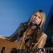 London,England,UK : 20 th June 2016 :  Singer Beatie Wolfe talks of her new innovation Technology to vher Album and preforms at the London Technology Week 2016 opening press day at The Yard,Worship Street, London. Photo by See Li