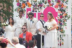 June 24, 2018 - January 24, 2018 - 2018 Pride Parade - ''Queer Eye'' Bobby Berk on the Lyft Float where he officiated three weddings. (Credit Image: © Dan Herrick via ZUMA Wire)