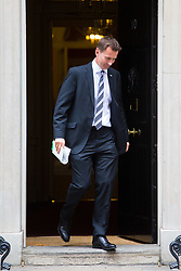 London, July 4th 2017. Health Secretary Jeremy Hunt leaves the weekly cabinet meeting at 10 Downing Street in London.