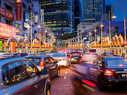 05 JUNE 2015 - KUALA LUMPUR, MALAYSIA: Traffic on Jalan Tun Sambanthan in the Little India section of Kuala Lumpur.     PHOTO BY JACK KURTZ