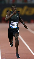 May 31, 2018 - Rome, Italy - Abdalleleh Haroun (QAT) competes in 400m men during Golden Gala Iaaf Diamond League Rome 2018 at Olimpico Stadium in Rome, Italy on May 31, 2018. (Credit Image: © Matteo Ciambelli/NurPhoto via ZUMA Press)