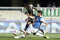 Gervinho Roma, Bostjan Cesar Chievo <br /> Verona 08-03-2015, Stadio Bentegodi, Football Calcio 2014/2015 Campionato Serie A Chievo - AS Roma Foto Image Sport/Insidefoto