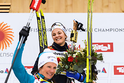 February 24, 2019 - Seefeld In Tirol, AUSTRIA - 190224 Stina Nilsson of Sweden celebrates at the podium after in women's team sprint final during the FIS Nordic World Ski Championships on February 24, 2019 in Seefeld in Tirol..Photo: Joel Marklund / BILDBYRN / kod JM / 87888 (Credit Image: © Joel Marklund/Bildbyran via ZUMA Press)