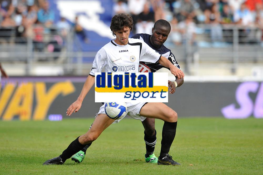 FOOTBALL - FRIENDLY GAMES 2011/2012 - BORDEAUX v UDINESE  - 20/07/2011 - PHOTO GUY JEFFROY / DPPI - DIEGO FABRINI (UDI) / LANDRY NGUEMO (BOR)