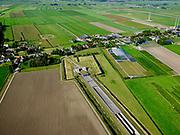 Nederland, Zuid-Holland, Hazerswoude-Dorp, 14-09-2019; Westeinde, Polder de Noordplas, zuidelijke ingang boortunnel HSL-spoorlijn. De tunnel is ook bekend als tunnel onder het Groene Hart.<br /> Entrance highspeed train tunnel<br /> <br /> luchtfoto (toeslag op standard tarieven);<br /> aerial photo (additional fee required);<br /> copyright foto/photo Siebe Swart