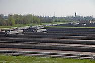 Nosedo, Milano : Impianto di depurazione delle acque reflue. nella foto le vasche per l'ossidazione biologica e la decantazione. Nosedo Waste Water Treatment plant