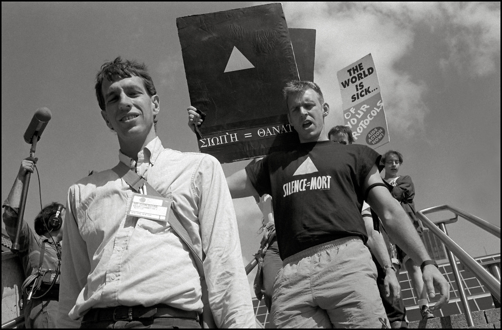 AIDS Activists from ACT UP NY stormed the Fifth International AIDS Conference in Montreal, at the time a members-only event for doctors and HIV/AIDS researchers. They protested outside, took over seats inside that were reserved for dignitaries, and released their first Treatment and Data report calling for speedier access to AIDS drugs. June 4, 1989