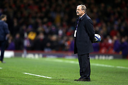 France head coach Jacques Brunel prior to the NatWest 6 Nations match at the Principality Stadium, Cardiff.