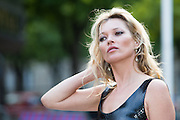 KATE MOSS - ARRIVALS IN THE EVENING ' MIU MIU CLUB ' - PERFUME LAUNCH OF 1 MIU MIU AND CRUISE COLLECTION 2016 FASHION SHOW AT THE PALACE OF IENA<br /> ©Exclusivepix Media
