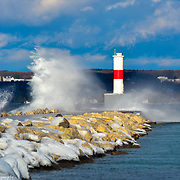 Gale Force Winds Push Over The Breakwall