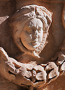 Detail of a sculpture in the grounds of the National Museum in Damascus, Syria