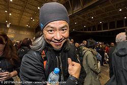 Mooneyes 26th Annual Yokohama Hot Rod and Custom Show pre-party at the Pacifico Hall, Yokohama, Japan. Saturday December 2, 2017. Photography ©2017 Michael Lichter.