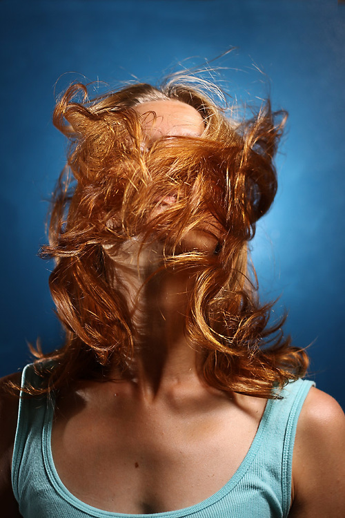 Portrait - flying hair