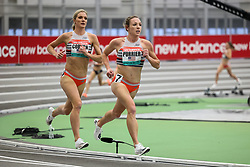 New Balance Indoor Grand Prix<br /> Staten Island, New York, February 13, 2021<br /> womens 2 Mile, Elle Purrier, New Balance, sets new American record of 9:10.28