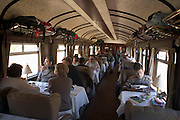 First class car on the train from Cuzco to Puno  Peru