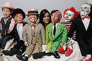 Caprea Wingate, 22, originally from Baltimore, makes ventriloquist dolls for a living at her home in Cumberland, Md. Her dolls, from left, Mr. Scarface, Charlie McCartney, What Mortimer Snerd, Two Face, Binky, Billy Jigsaw