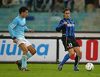 Roma 8 dicembre 2002<br />Lazio - Inter 3-3<br />Fabio Cannavaro e Bernardo Corradi