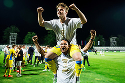 Jan Repas of NK Domzale and Xavier Juninho of Domzale celebrate after winning during football match between NK Domzale and NK Olimpija Ljubljana in Final of Slovenian Cup 2017, on May 31, 2017 in Stadium Bonifika, Koper / Capodistria, Slovenia. Photo by Vid Ponikvar / Sportida