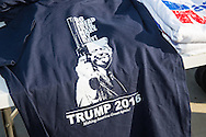 Madison, Mississippi, March 7, 2016  Trump t-shirts  for sale outside of a Donald Trump rally the  rday before Mississippi primary.