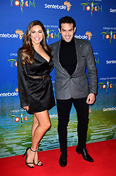 Kelly Brook and Jeremy Parisi attending the premiere of Cirque du Soleil's Totem, in support of the Sentebale charity, held at the Royal Albert Hall, London.