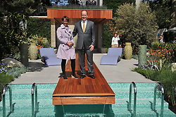 PRINCE ALBERT OF MONACO and garden designer SARAH EBERLE at the 2011 RHS Chelsea Flower Show VIP & Press Day at the Royal Hospital Chelsea, London, on 23rd May 2011.