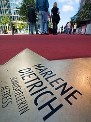 Star of Marlene Dietrich at new Boulevard der Stars a special boulevard tribute to movie stars  at Potsdamer Platz in Berlin opened 10 September 2010