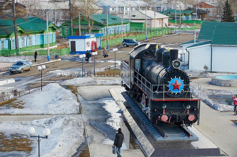 Russie, oblast de Krasnoïarsk, Ilanskaya, 20 minutes d'arret, gare ferroviaire, Station du transsiberien // Russia, Krasnoyarsk oblast, Ilanskaya, 20 minutes stop, railway station, Trans-Siberian line