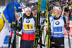March 16, 2019 - –Stersund, Sweden - 190316 Tarjei Bø and Johannes Thingnes Bø of Norway after the Men's 4x7,5 km Relay during the IBU World Championships Biathlon on March 16, 2019 in Östersund..Photo: Petter Arvidson / BILDBYRÃ…N / kod PA / 92269 (Credit Image: © Petter Arvidson/Bildbyran via ZUMA Press)