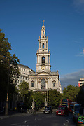 St Mary le Strand on 14th October 2015 in London, United Kingdom. St Mary le Strand is a Church of England church at the eastern end of the Strand in the City of Westminster, London.