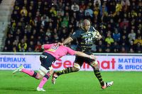 Jone QOVU  - 10.04.2015 - La Rochelle / Stade Francais - 22e journee Top 14<br /> Photo : Caroline Blumberg / Icon Sport