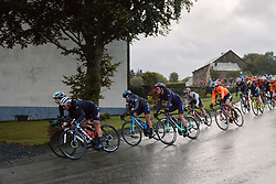 Alicia Gonzalez (ESP) and Hannah Barnes (GBR) in the bunch at the 2020 Liège Bastogne Liège, a 135 km road race from Bastogne to Liège, Belgium on October 4, 2020. Photo by Sean Robinson/velofocus.com