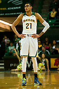 WACO, TX - JANUARY 3: Isaiah Austin #21 of the Baylor Bears looks on against the Savannah State Tigers on January 3, 2014 at the Ferrell Center in Waco, Texas.  (Photo by Cooper Neill) *** Local Caption *** Isaiah Austin