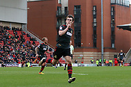 John Marquis of Doncaster Rovers celebrates scoring the second goal for Doncaster. EFL Skybet Football League two match, Leyton Orient v Doncaster Rovers at the Matchroom Stadium, Brisbane Road in Leyton, London on Saturday 18th March 2017.<br /> pic by Steffan Bowen, Andrew Orchard sports photography.
