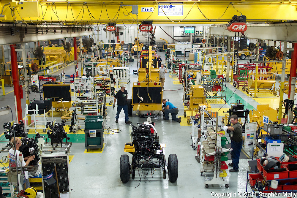 The brush chipper assembly line in Plant 4 at Vermeer in Pella, Iowa on Thursday, July 28, 2011.