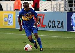 Cape Town City midfielder Thabo Nodada in action against Polokwane City in an MTN8 quarter-final match at the Cape Town Stadium on August 12, 2017 in Cape Town, South Africa.