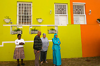 Colorful houses on Waalstraat in Bakaap section (Muslim Quarter), Cape Town, South Africa